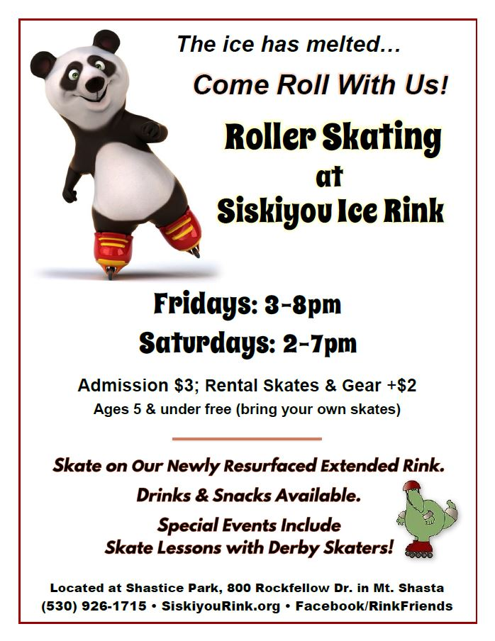 SIR Roller Skating Update Flier for May '16