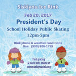 President's Day Ice Skating at Siskiyou Ice Rink