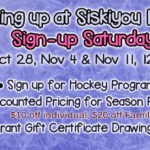 Sign-up Saturdays: Oct 28, Nov 4 & Nov 11, 2017